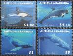 Антигуа и Барбуда 2010 год. Морские млекопитающие, 4 марки