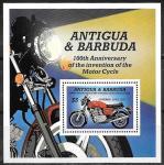 Антигуа и Барбуда 1985 год. 100 лет изобретения мотоцикла, блок