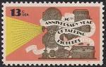 США 1977 год. 50 лет звуковому кино. 1 марка