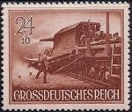Германия (Рейх) 1944 год. День Вермахта. Охрана на железной дороге (24+10). 1 марка из серии