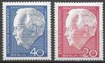 Берлин 1964 год. Федеральный президент Германии Генрих Любке, 2 марки