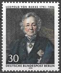 Берлин 1970 год. Немецкий историк Леопольд фон Ранке, 1 марка