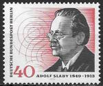 Берлин 1974 год. Немецкий физик Адольф Слаби, 1 марка