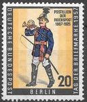 Берлин 1957 год. Почтальон Рейхспочты, 1 марка