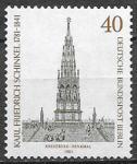 Берлин 1981 год. Немецкий архитектор Карл Фридрих Шинкель, 1 марка