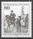 Берлин 1983 год. 150 лет телеграфной линии Берлин - Коблец. Телеграфный инстпектор, 1 марка
