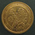 1 евро цент 2011 год. Германия