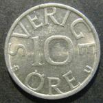Монета 10 ore 1981 года. Швеция. Карл XVI Густав
