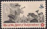 США 1973 год. 200 лет Независимости США. Колониальные коммуникации. 1 марка