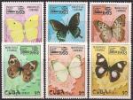 """Куба 1993 год. Интернациональная филвыставка """"Бангкок-93"""". Бабочки (186.3699). 6 марок"""