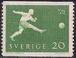 Швеция 1958 год. ЧМ по футболу в Швеции (ном. 20). 1 марка из серии