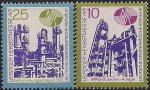 ГДР 1971 год. Осенняя Лейпцигская ярмарка. Оборудование для химического завода. 2 марки