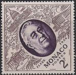 Монако 1956 год. Президент США Франклин Рузвельт (ном. 2). 1 марка из серии