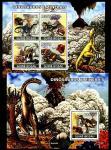 Гвинея-Бисау 2008 год. Динозавры и минералы. Малый лист + блок