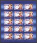 Россия 2012 год. Ф. А. Цандер, лист марок. космос