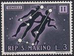 Сан-Марино 1970 год. Знаки Зодиака. Близнецы. 1 марка из серии (ном 3)