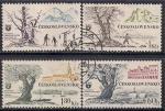 ЧССР 1964 год. Туристические места. 4 гашёные марки