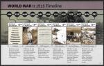 Антигуа и Барбуда 2015 год. 1-я Мировая война, малый лист