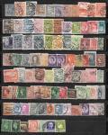 Набор марок стран Европы: Италия, Франция, Дания, Литва, Латвия, Германия и др. 87 гашеных марок
