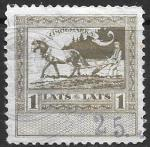 Непочтовая марка. Налог на землю. Латвия. 1 лат