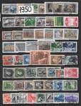 Годовой набор марок 1950 год. Гашеный