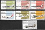 Мальта 1984 год. Авиасообщение с Мальтой, самолеты, 7 марок