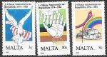 Мальта 1984 год. 10 лет республике Мальта, 3 марки