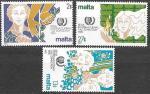 Мальта 1985 год. Международный год молодежи, 3 марки