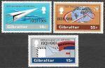 Гибралтар 1981 год. 60 лет авиапочте, 3 марки