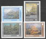Гибралтар 1991 год. Картины с пейзажами, 4 марки