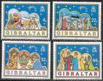 Гибралтар 1989 год. Рождественские сюжеты, 4 марки