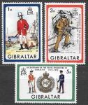Гибралтар 1972 год. 100 лет первооткрывателям Гибралтара, 3 марки