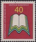 ФРГ 1972 год. Международный год книги. 1 марка
