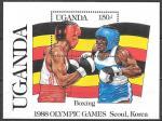 Уганда 1987 год. Летние Олимпийские игры в Сеуле, бокс, блок