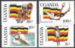 Уганда 1987 год. Летние Олимпийские игры в Сеуле, 4 марки