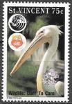 Сент-Винсент 1992 год. Пеликан, 1 марка