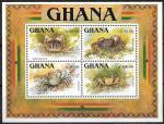 Гана 1993 год. Крабы, блок