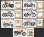 Никарагуа 1985 год. Мотоциклы разных марок, 7 марок