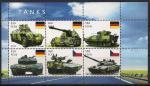 Гвинея-Биссау 2011 год. Немецкие модели танков. 1 малый лист