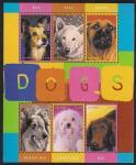 """Малый лист, блок и 2 марки """"Собаки"""". Гайана"""