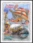 Кот дИвуар 2018 год. Корабли древности, 1 гашеный блок
