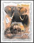 Кот дИвуар 2018 год. Слоны, 1 гашеный блок