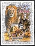 Кот дИвуар 2018 год. Львы, 1 гашеный блок