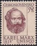 ЧССР 1968 год. 150 лет со дня рождения К. Маркса. 1 марка