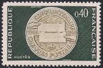 Франция 1968 год. 50 лет со дня создания чека для оплаты в почтовых отделениях. 1 марка