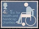 Великобритания 1975 год. Помощь инвалидам. 1 марка