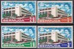 Бермудские Острова 1967 год. Новое здание почтамта в Гамильтоне. 4 марки