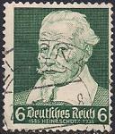 Германия. Рейх 1935 год. Композитор Генрих Шютц (ном. 6пф). 1 гашеная марка из серии