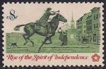 США 1973 год. 200 лет Независимости США. Гонец почтовой службы. 1 марка