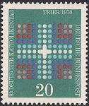 ФРГ 1970 год. День немецкой Католической церкви. Символ - разноцветный крест. 1 марка